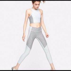 Outdoor Voices 3/4 Two-Tone Leggings | grey/Med